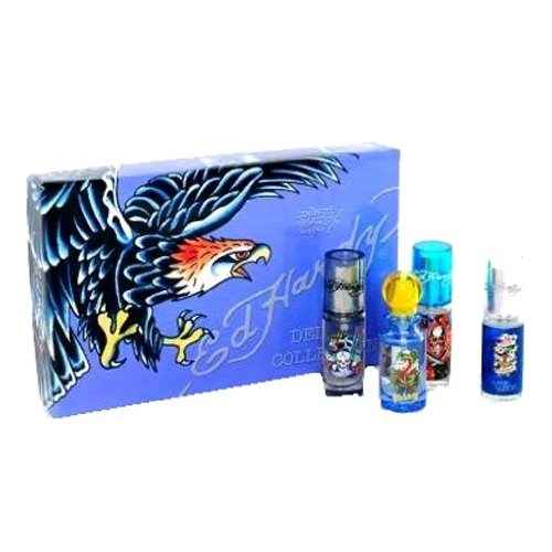 Ed Hardy Deluxe Collection Fragrance Gift Set For Women 4 Pc: Reviews This Christian Audigier Mini Set (Ed Hardy Love And Luck, Ed Hardy Hearts Daggers, Born